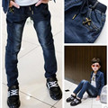 New Year, Boys pants jeans Fashion Boys Jeans for Spring Fall Children's Denim Trousers Kids Dark Blue Designed Pants