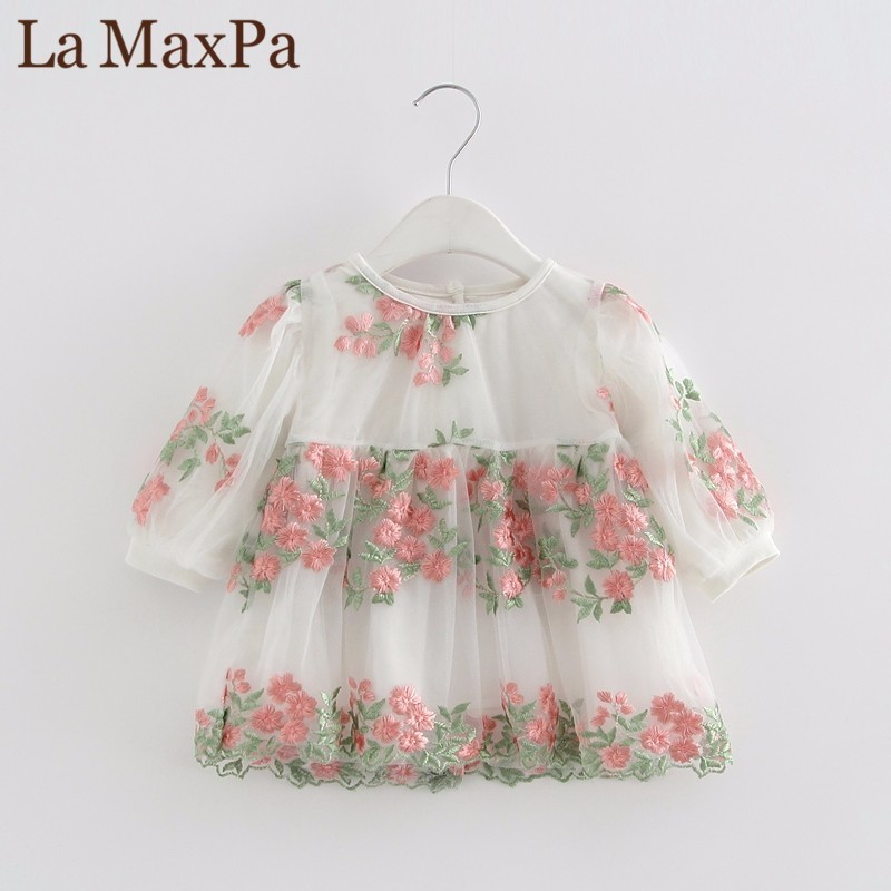 Newborn Baby Dresses 2018 Spring Summer Floral Cotton Infant Dress Toddler Girl Clothes For 1 Year Birthday Party Dress vestidos summer baby girl floral dress children party costume tutu birthday dresses for toddler girl kids clothes vestidos 3 10 years