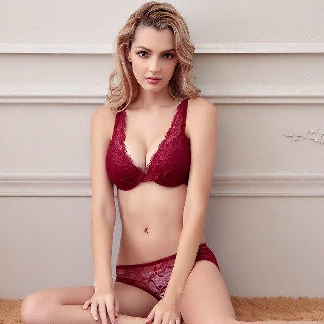 Aliexpress.com : Buy Fashion Sexy Lace Woman Bra Set Push Up ...