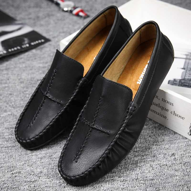 46a4e9e12e4 ... Moccasins Gommino Drivers With Sylvie Web Buckle Loafers Slippers Men  Flats Casual Handmade Leather Moosehide Weekender ...