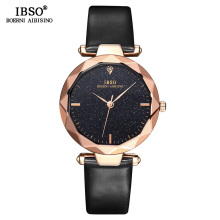 IBSO Brand Female Shining Dial Design Watches Fashion Cut Glass Design Women Wrist Watch High Quality Ladies Quartz Watch