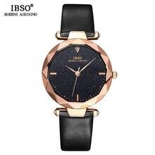 IBSO Reloj de pulsera para mujer, diseño de esfera brillante, corte de moda, de cuarzo, femenino