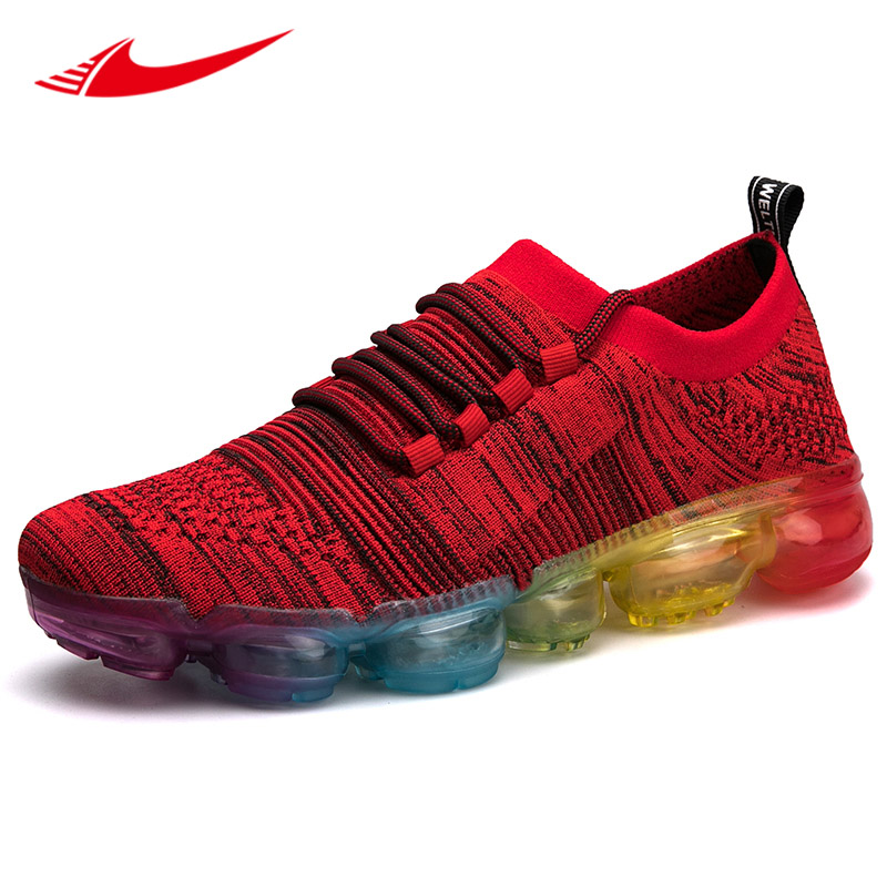 7446a0ce76d61 Beita grande taille 39-47 hommes chaussures de course en tricot lame  chaussures Jogging hommes