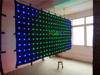 P18CM 2X4M new product on china market led video curtain on aliexpress