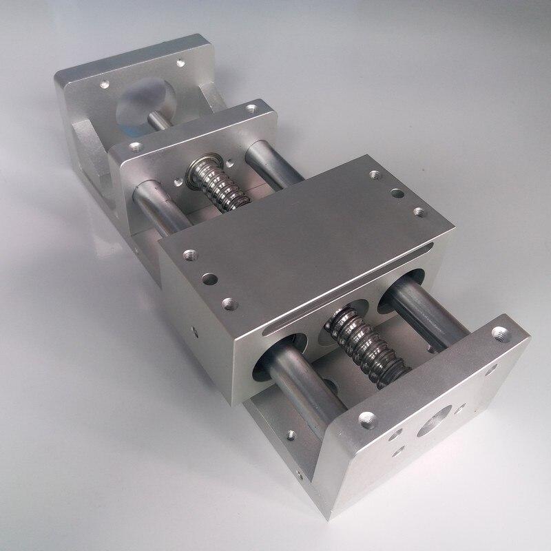 100MM 200MM Stroke CNC Linear module Sliding Table XYZ Axis Cross Slide Linear Stage SFU1605 Ball