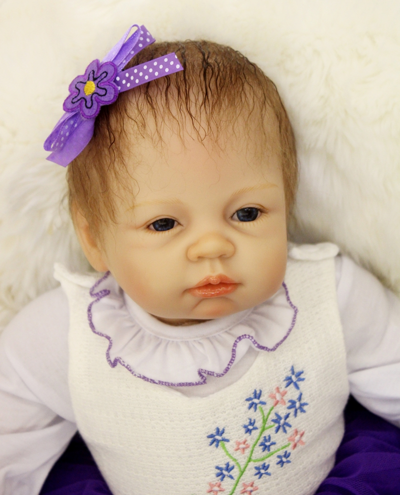 Baby bedtime music - 55cm Reborn Baby Doll Real Silicone Doll Kids Toys Girls Bebes De Silicona Child Bedtime Early