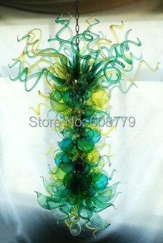 Prix usine belle main verre soufflé lustre 110v