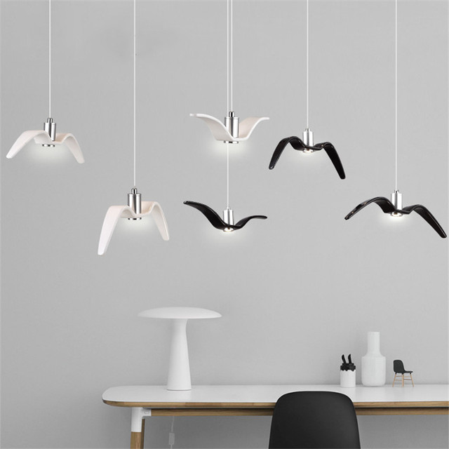 Nordic creative bedroom study seagull pendant lamp simple iron nordic creative bedroom study seagull pendant lamp simple iron coffee bar led pendant lighting restaurant industrial mozeypictures Image collections