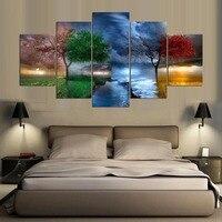 5 шт./компл. HD печати Canvas Art Абстрактная живопись, пейзаж Modern Home Decor Wall Art Аватар для гостиной Декор Живопись модульные картины картины плакат