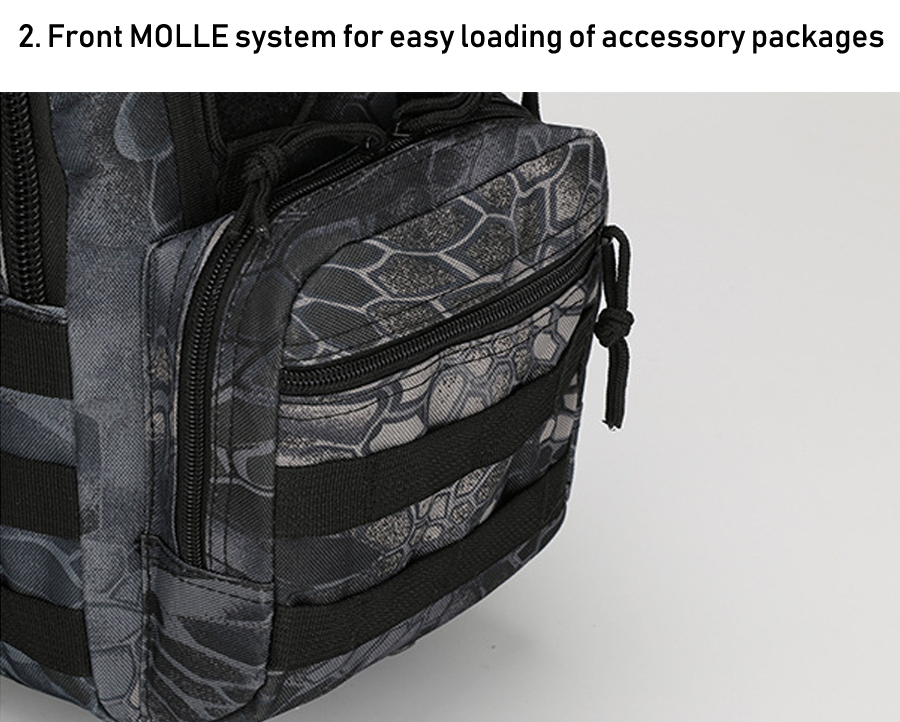 Tactical Bag Shoulder Molle Black (5)