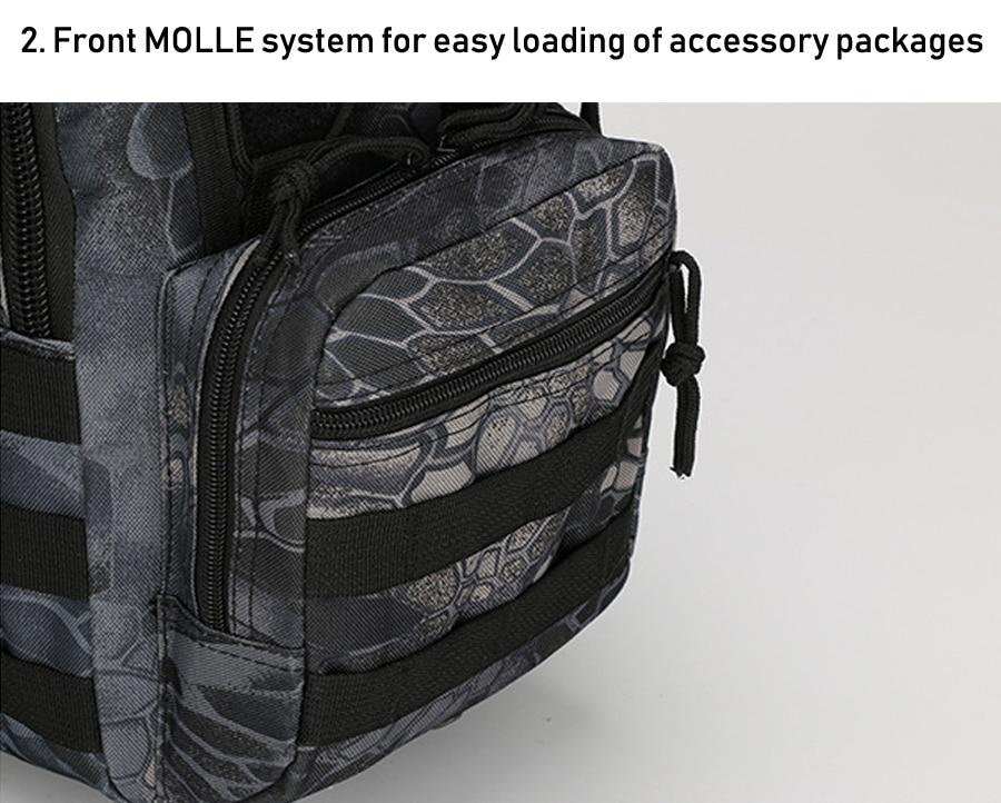 Tactical Bag Shoulder Molle Black (5)