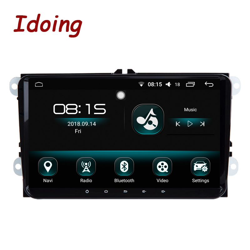 Idoing 92Din Car Radio Video Multimedia Player Android 8.0 For Skoda Seat IPS Screen 4G+64G Octa Core Navigation GPS+Glonass