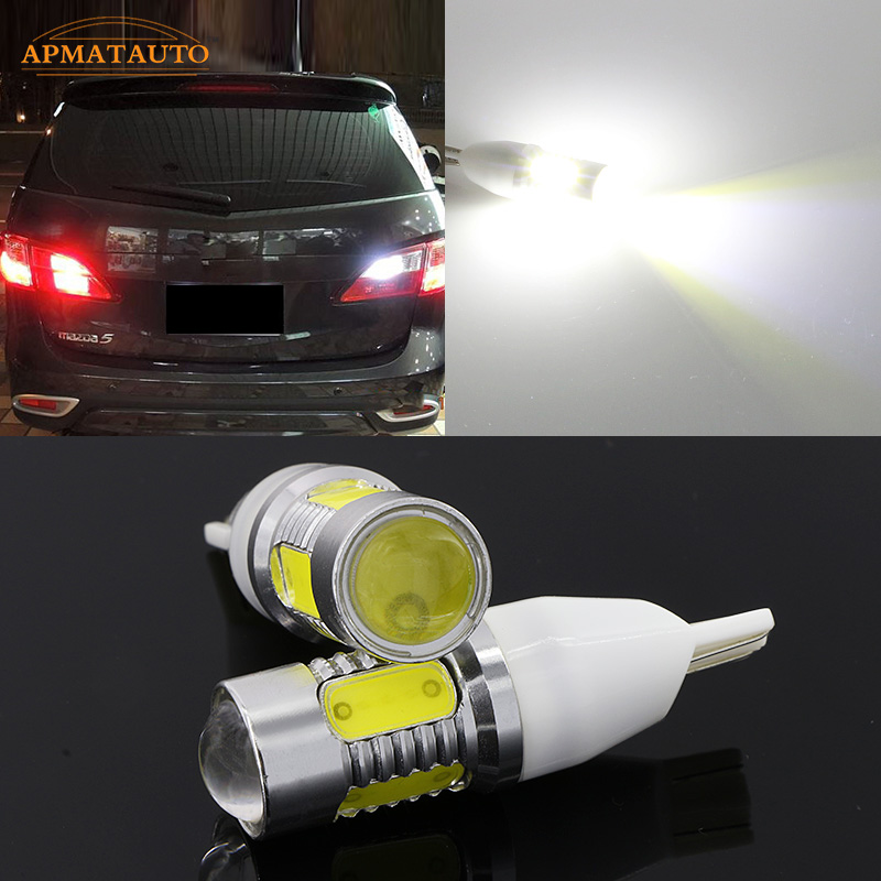 2 x T15 T16 W16W Super Bright Plasma LED Projector Blub Tail Backup Reverse Lights For Nissan Bluebird LIVINA Paladin teana