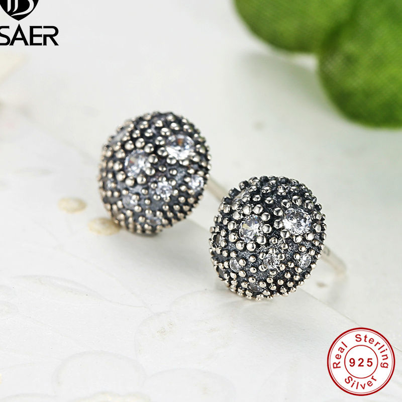 b4da7dd02 2016 NEW 925 Sterling Silver Cosmic Stars Stud Earrings Clear CZ Compatible  with Pandora Jewelry Special Store AS417-in Stud Earrings from Jewelry ...