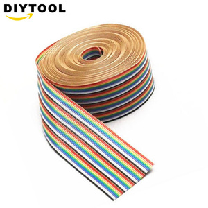 1M 40 pin Flat Color Rainbow Ribbon IDC Cable Wire Rainbow Cable