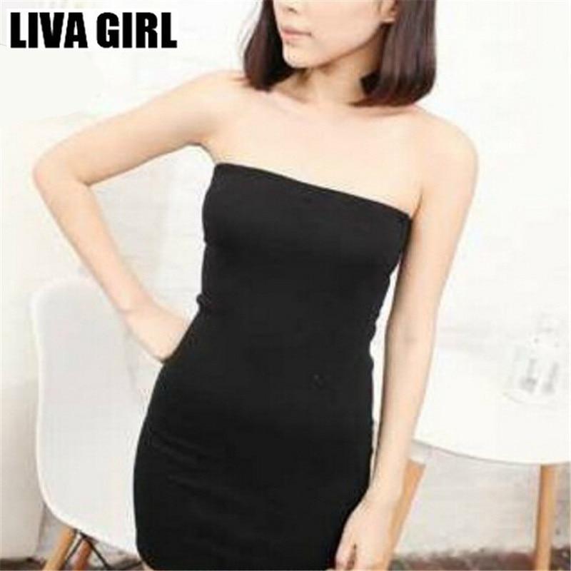 Liva Girl Women Spring Boob Tube Top Strapless Dress