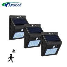 20/40 LED Emergency Light Lamp With PIR Motion Sensor Solar Power Rechargeable Outdoor Street Garden Light Security Solar Lamp