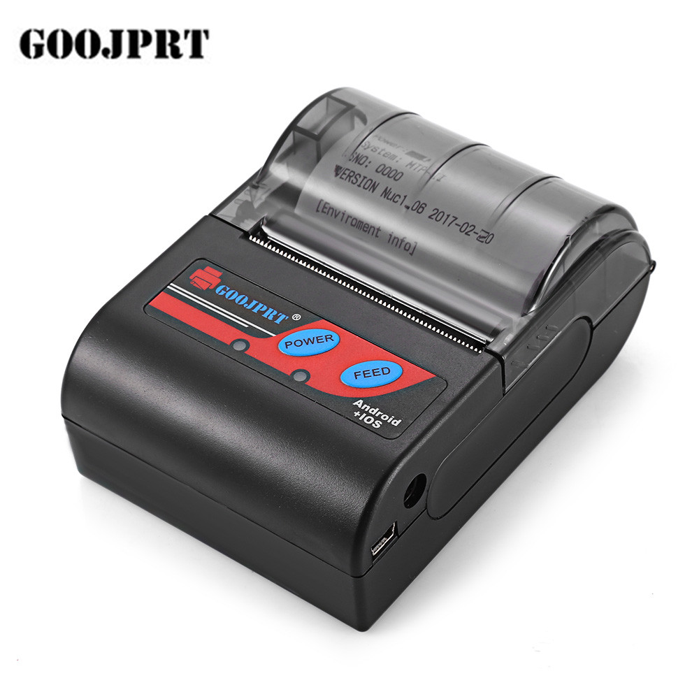 GOOJPRT MTP-II 58mm Portablle Android Bluetooth Imprimante Thermique Réception Imprimante pour mobile POS imprimante bluetooth billet imprimante