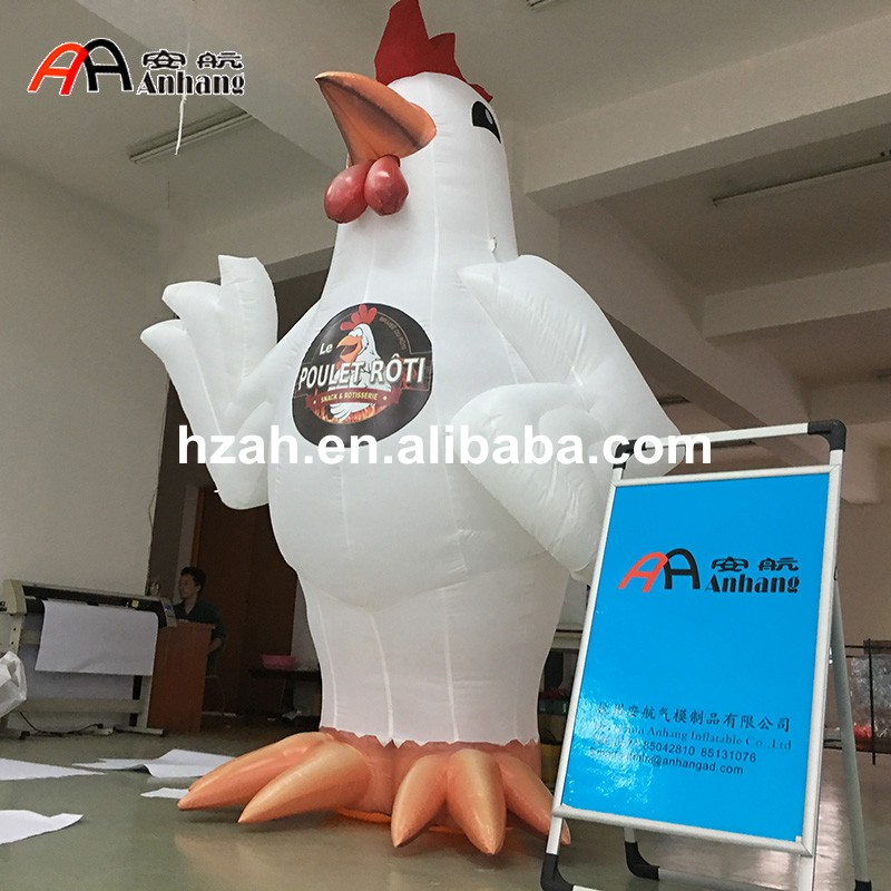 Customized Giant Inflatable Chicken for Sale customized 3 meters long giant inflatable shark high quality decorative blow up shark replica for sale toys