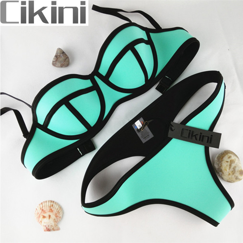 Neoprene Swimwear Women  Bikini Woman New Summer 2018 Sexy Swimsuit Bath Suit Push Up Bikini set Bathsuit TA001B Cikini neoprene swimwear women bikini woman new summer 2017 sexy swimsuit bath suit push up bikini set bathsuit ta008y