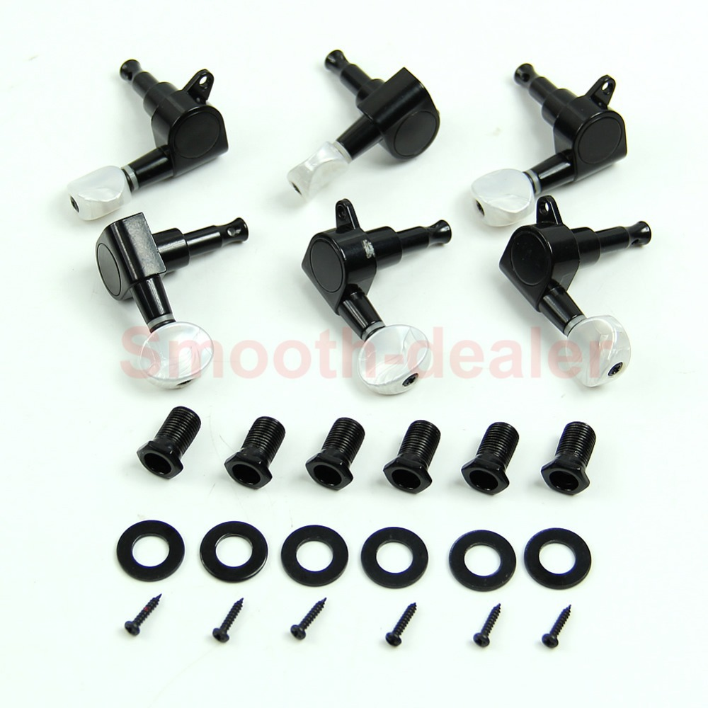 Profession Guitar String Tuning Pegs Keys Tuners Machine Heads 3R3L Set Black