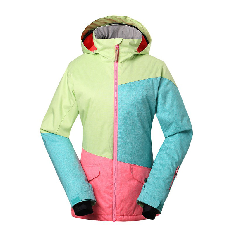 Prix pour NOUVELLE femme En Plein Air ski costume couleur nouveau single et double plaque super imperméable coupe-vent chaud ski veste GSOU NEIGE ski costume