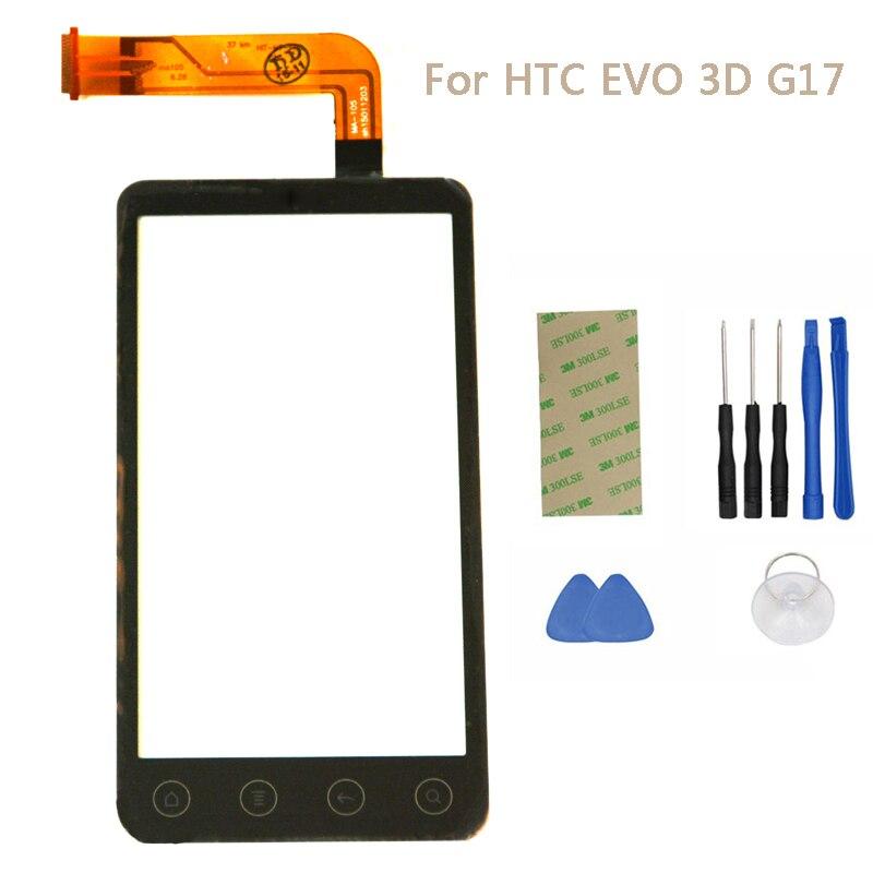 <font><b>Touch</b></font> <font><b>Screen</b></font> <font><b>Digitizer</b></font> For <font><b>HTC</b></font> <font><b>EVO</b></font> 3D G17 Replacement <font><b>Touch</b></font> Panel With Sensor Flex Outer <font><b>Front</b></font> <font><b>Glass</b></font> Lens + Opening Tools NP177