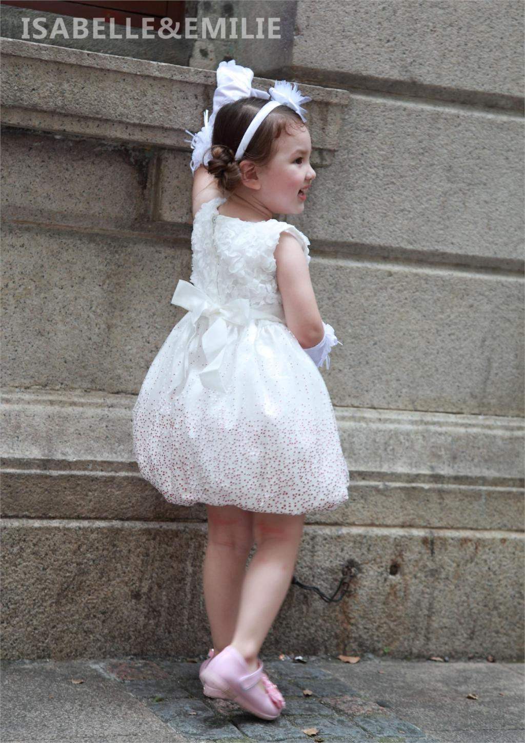 Fashion Baby Girls Dress Kids White Vest Vestidos 2017 Formal ... 0832a0fa5aa4
