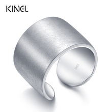 Kinel 925 Sterling Silver Jewelry Bohemia Big Midi Rings For Women Brushed Finger Joints Ring Clothing With Gift