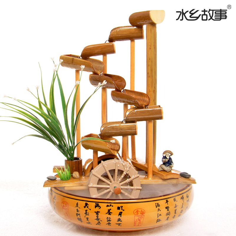 Water story living room table handmade bamboo crafts for Crafts using bamboo