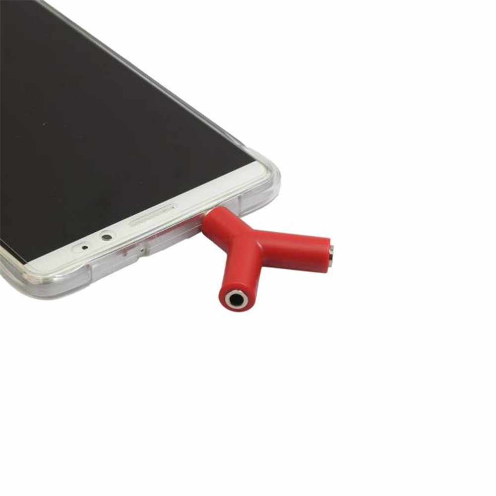 VOBERRY 3.5mm Stereo Audio Y Splitter 2 żeński na 1 męski adapter do kabla na słuchawki słuchawki telefonu komórkowego komputera MP3
