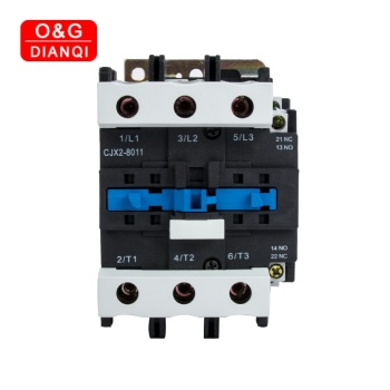 80A AC Contactor CJX2-8011 8001 LC1 3Phase 3-Pole NO Coil Voltage 380V 220V 24V 50Hz Din Rail Mounted 3P+1NO 1NC Contactor