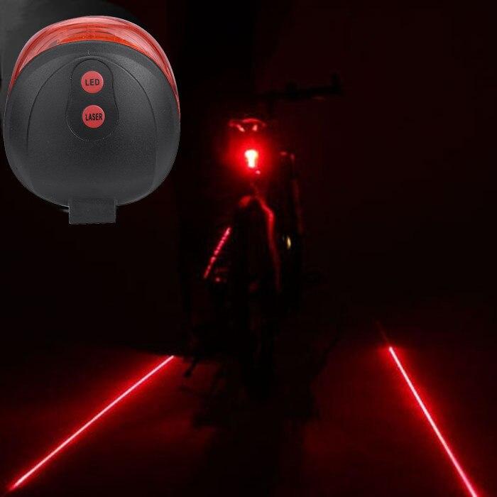 Велоспорт велосипед светильник 2 лазерный проектор Красный ближнего света и 3 светодиодные задние светильник s проекции Версия велосипедны...