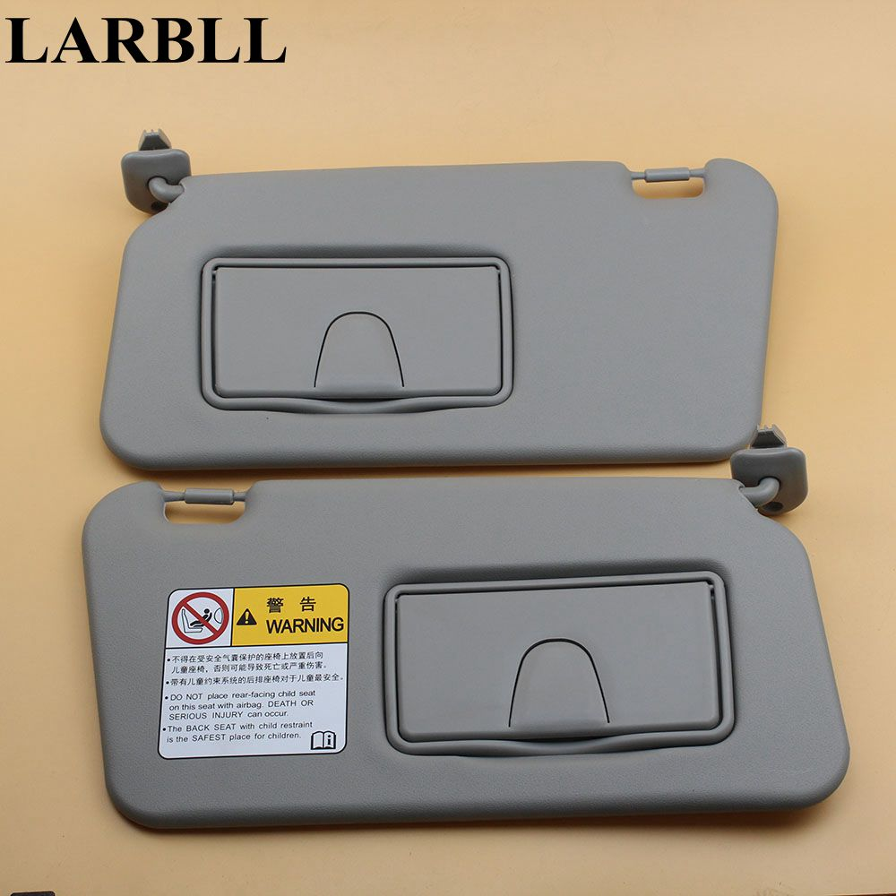 LARBLL New Car Auto Gray Front Left Right Driver Passenger Side Sun Visor Shield With Glass