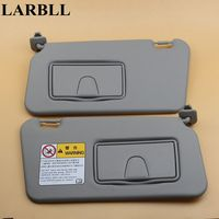 LARBLL New Car Auto Gray Front Left&Right Driver Passenger Side Sun Visor Shield With Glass Mirror For Suzuki Swift 2006 2016