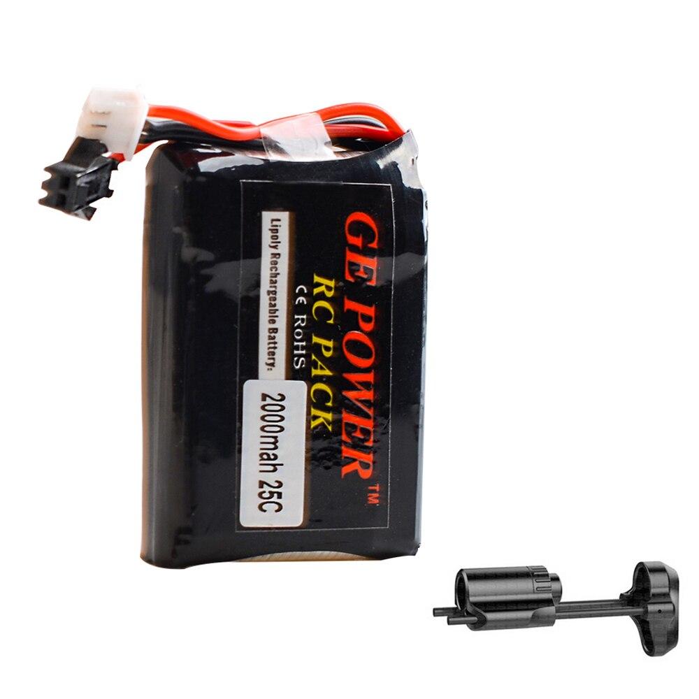 1pcs GE Power Rc Lipo Battery 2S 7.4V 2000MAH 25C SM Plug for PDW Rc Quadcopter mos rc airplane lipo battery 3s 11 1v 5200mah 40c for quadrotor rc boat rc car