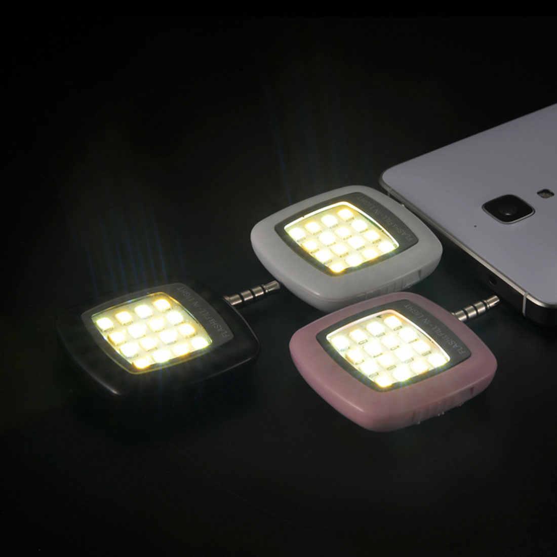 Etmakit Универсальный android 16 светодиодная вспышка лампа для селфи освещение узконаправленный фонарь камера для samsung мобильные Объективы для телефона