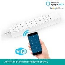Wifi Intelligence Socket App Long-range Remote Control Alexa Voice Row Insert