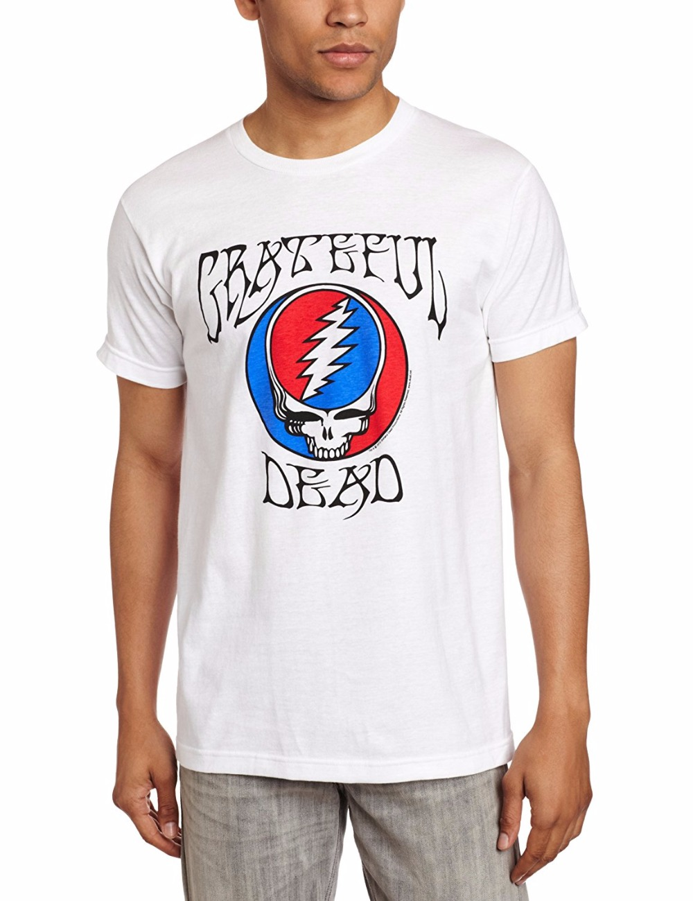 Breaking bad Aaron Paul Jesse Pinkman Gun Shoot T-ShirtPrintedMalcolm Merchandising Mens Grateful Dead Steal Your Face Logo