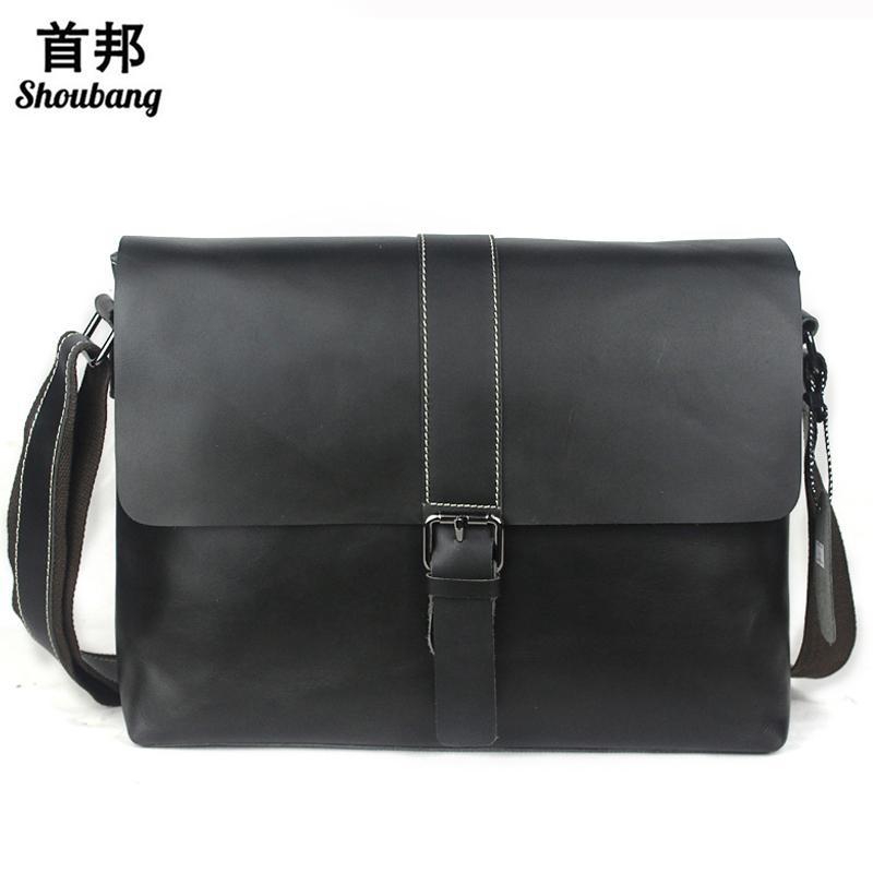 Business Briefcase Leather Laptop Bag Men Bag Men Messenger Bags Genuine Leather Shoulder Crossbody Bags for Man Totes цена и фото