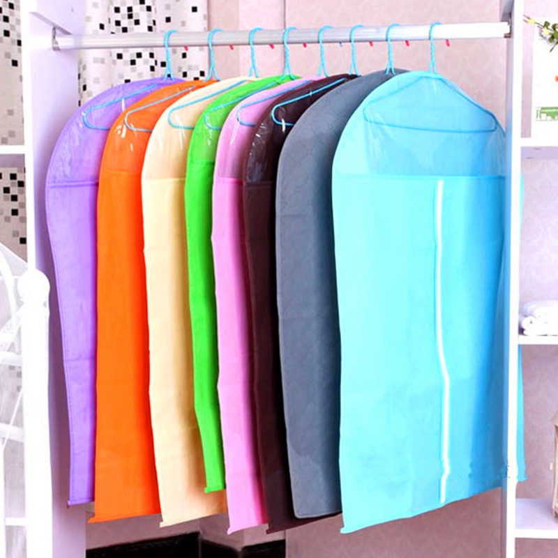 Dustproof Cloth Cover Hanging Organizer Home Storage Waterproof Suit Coat Dust Cover Protector Wardrobe Storage Bag for Clothes