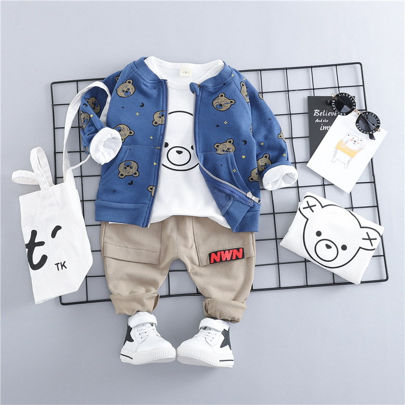 HYLKIDHUOSE 2019 Toddler Infant Clothes Suits Baby Boys Girls Clothing Sets Coats T Shirt Pants Children Kids Casual CoatumeHYLKIDHUOSE 2019 Toddler Infant Clothes Suits Baby Boys Girls Clothing Sets Coats T Shirt Pants Children Kids Casual Coatume