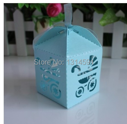 96 pcslot hollowed stroller candy box baby shower favour party supplier wedding favor giveaways