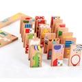 Животные Пасьянс игрушка-головоломка Дети/домино 28 шт. детская игрушка стандартное деревянное домино игрушки для детей раннего возраста - фото