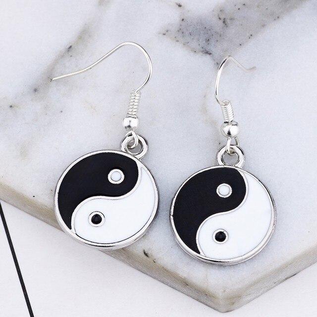 Women's Ying Yang Drop Earrings 2