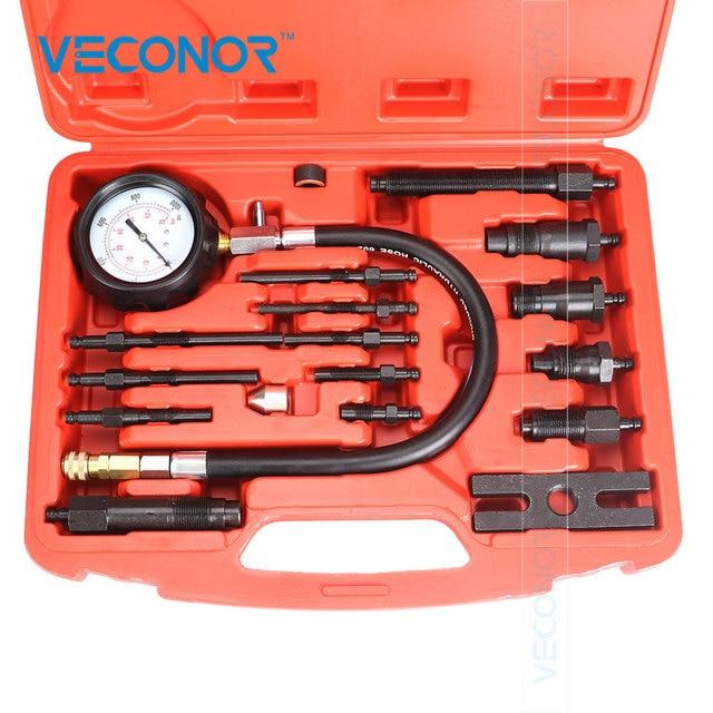 VECONOR Professional Diesel Engine Compression Tester Tool Kit Set Cylinder Pressure Meter For Diesel Truck