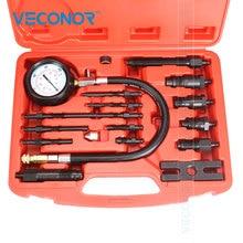 VECONOR probador profesional de compresión de motor diésel, juego de herramientas, medidor de presión de cilindro para camión diésel