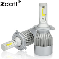 2Pcs Super Bright H4 Led Bulb 72W 7600Lm Headlights H1 H3 H7 H8 H9 H11 HB3