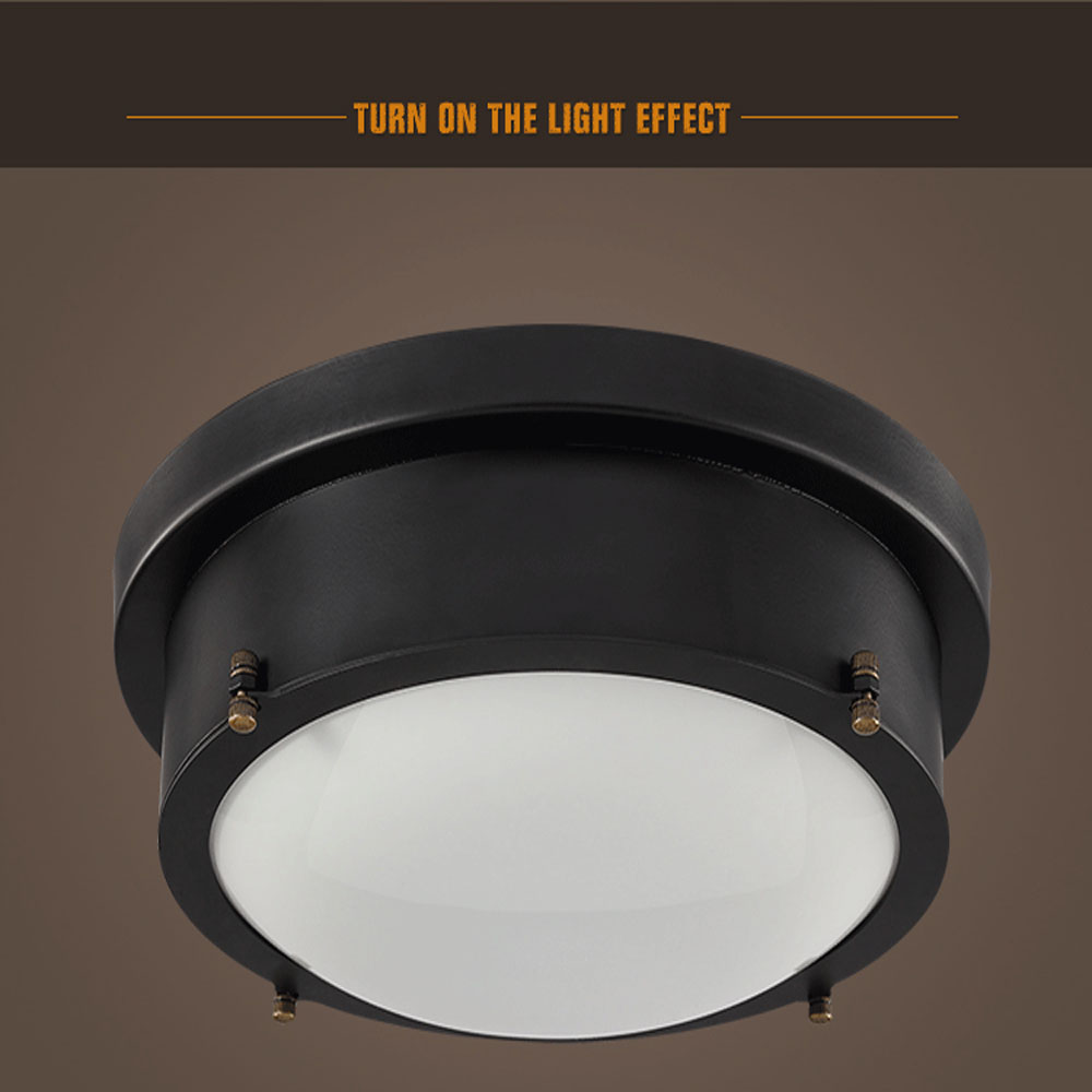 HGhomeart 24W Led Retro Flush Mount Ceiling Light Luminaria 110 220V American Style Led Ceiling Lamp HGhomeart 24W Led Retro Flush Mount Ceiling Light Luminaria 110-220V American Style Led Ceiling Lamp Ceiling Lights Vintage Iron