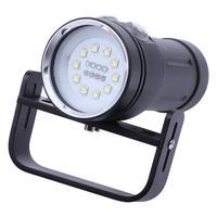 Chuyên nghiệp LED Trắng UV Ánh Sáng LED Torch Underwater Video Lặn Đèn Pin Đèn Scuba Diving Sáng Không Thấm Nước Torch